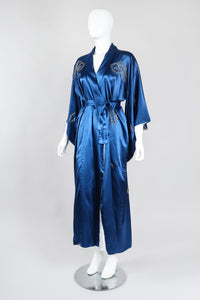 Recess Los Angeles Vintage Made In Japan Royal Gold Dragon Couching Embroidered Kimono Robe