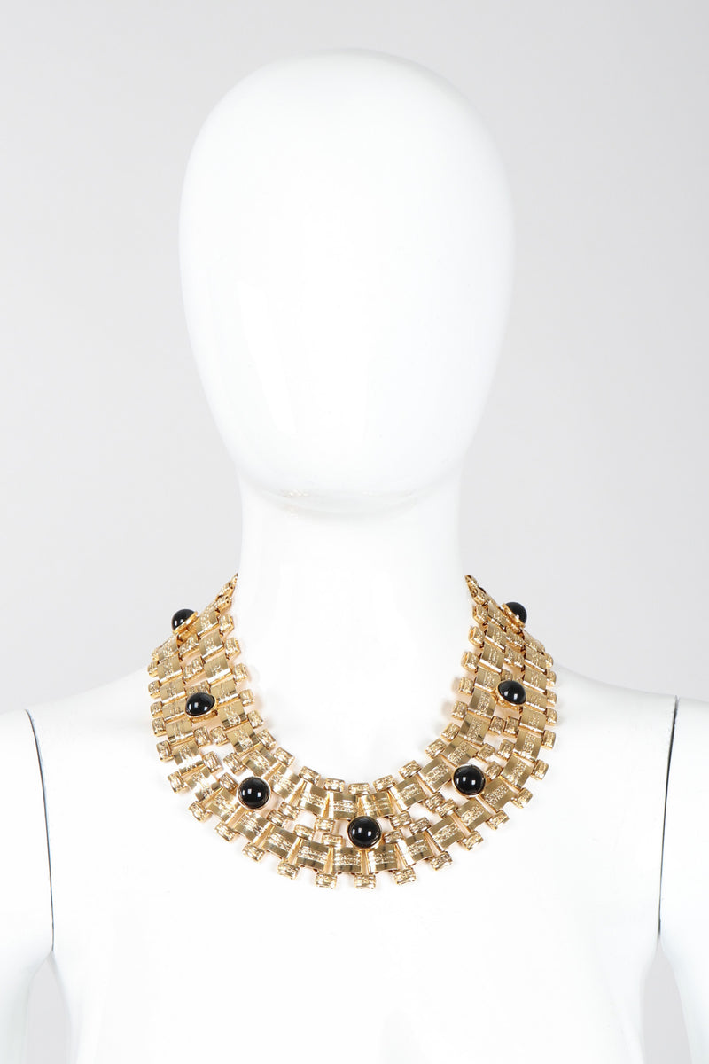 Recess Los Angeles Vintage Egyptian Thick Chunky Cabochon Chain Collar