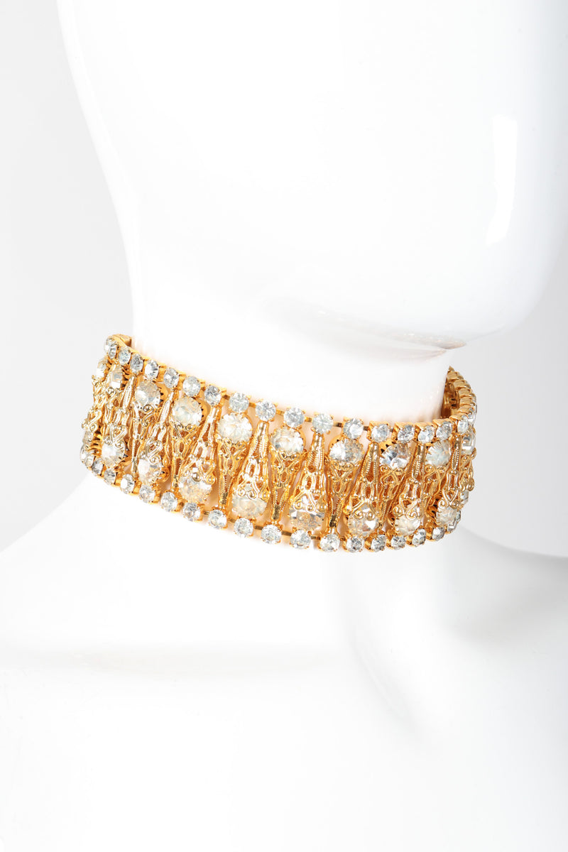 Recess Los Angeles Vintage Crystal Filigree Ice Cream Choker Necklace