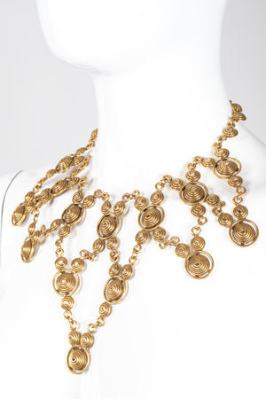 Recess Los Angeles Vintage Byzantine Swirl Link Bib Necklace