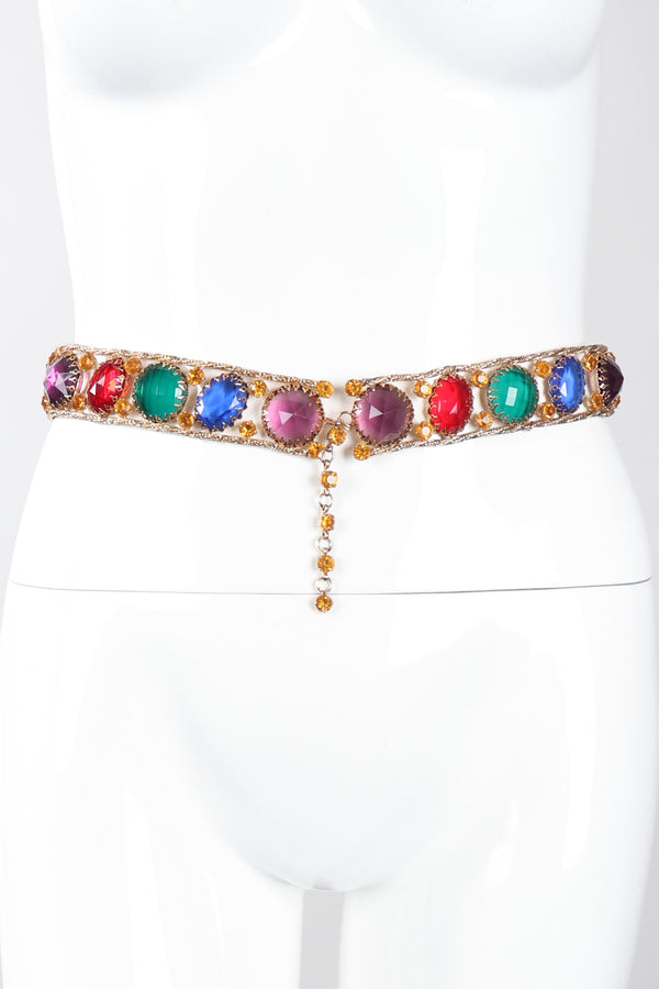 Recess Los Angeles Vintage Rainbow Gemstone Treasure Metal Mesh Belt