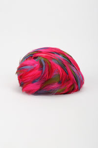 Recess Los Angeles Vintage Neon Rainbow Feather Casque Hat