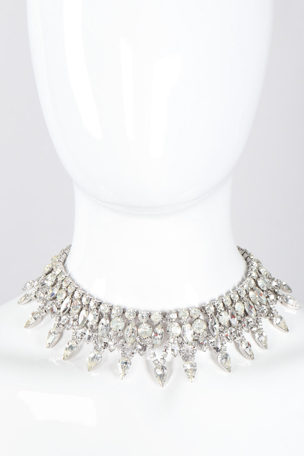 Recess Los Angeles Vintage Deco Pointed Crystal Rhinestone Collar Necklace