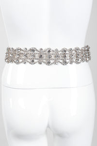 Recess Los Angeles Vintage Crystal Rhinestone Metal Lace Belt
