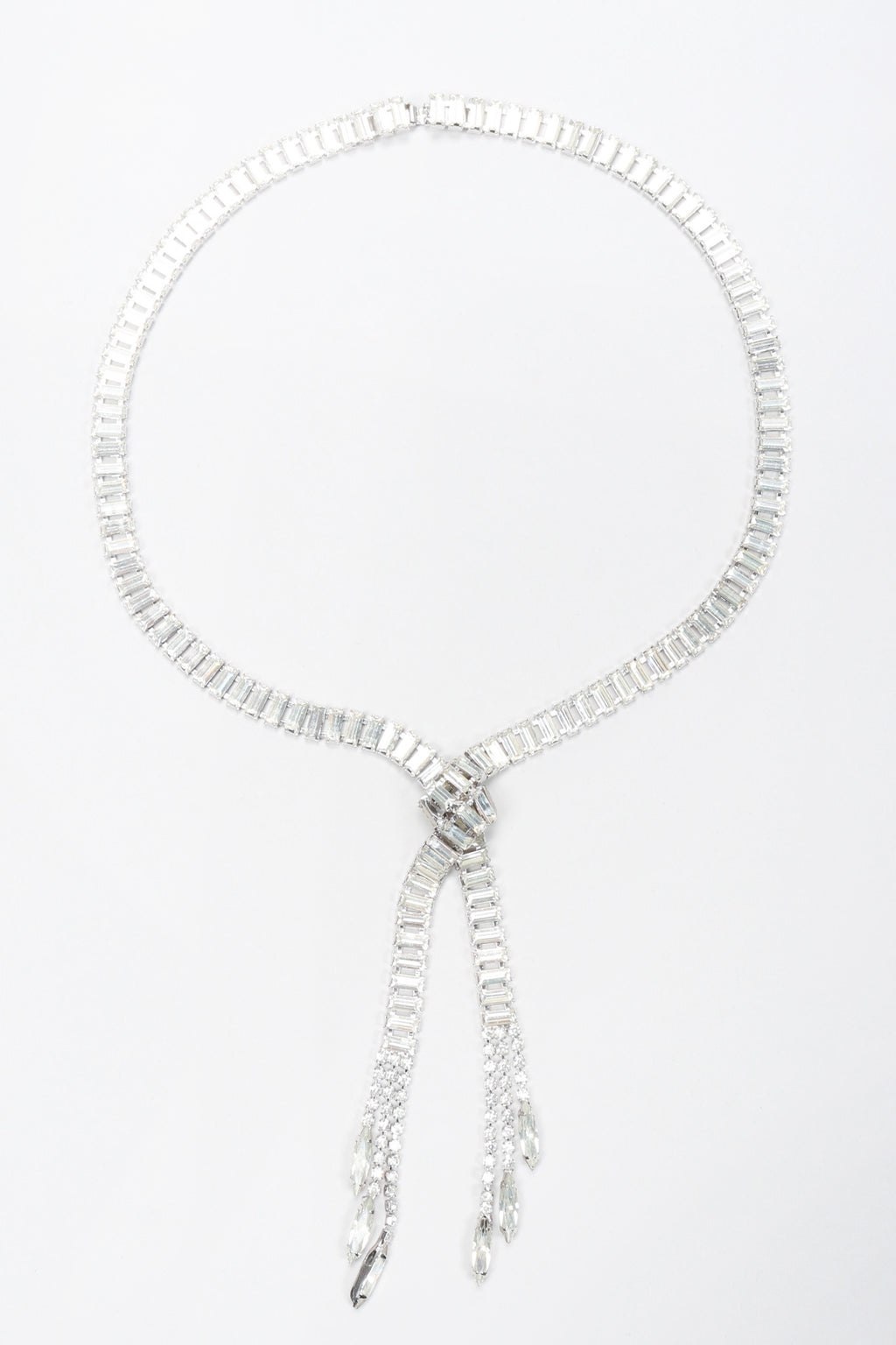 Recess Los Angeles Vintage Crystal Lariat Knot Necklace