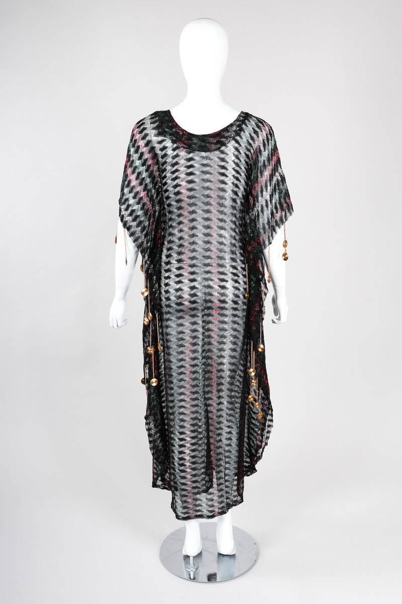 Recess Los Angeles Vintage Metallic Lamé Medallion Gucci Caftan Poncho Tunic