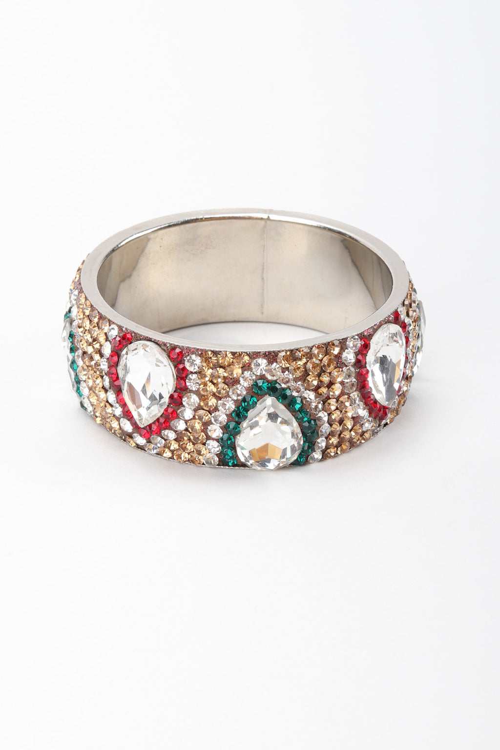 Recess Los Angeles Vintage Crystal Rhinestone Flame Indian Paisley Gucci Bangle