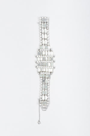 Recess Los Angeles Vintage Art Deco Crystal Baguette Watch Bracelet