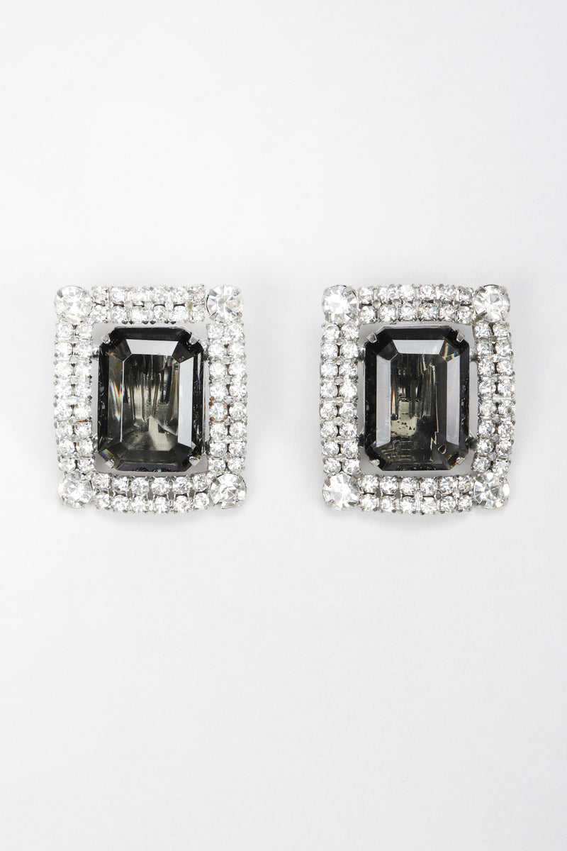 Recess Los Angeles Vintage Old Hollywood Smoky Quartz Crystal Earrings
