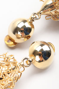 Recess Los Angeles Vintage Gold Quenelle Wire Wrap Egg Drop Earrings