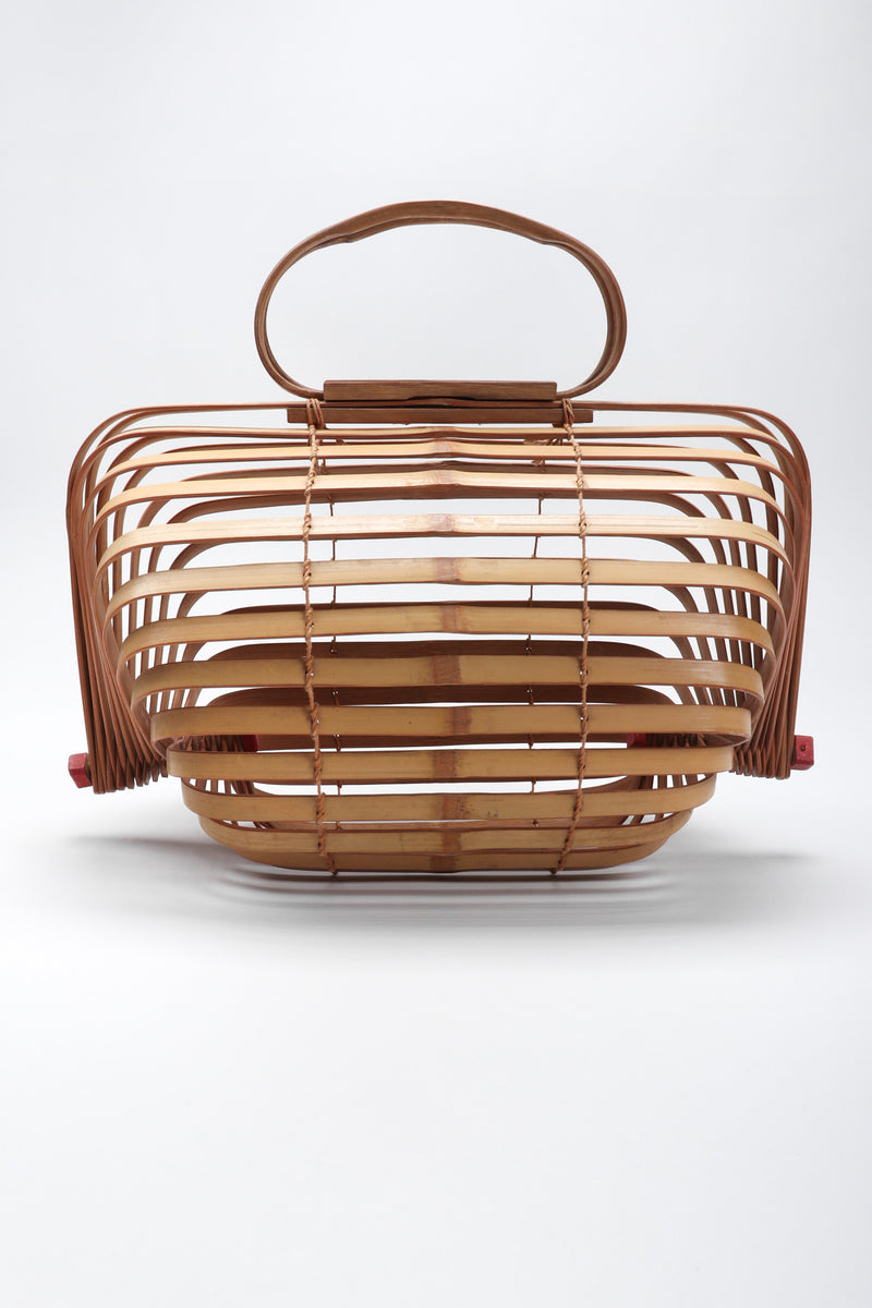 Recess Los Angeles Vintage Folding Accordion Bamboo Basket Bag