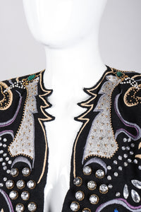 Recess Los Angeles Vintage Crystal Embroidered Embellished Phoenix Rockstar Jacket