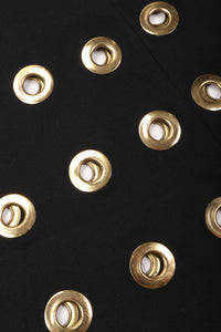 Recess Los Angeles Vintage Wool Gold Grommet Circle Hardware Skirt