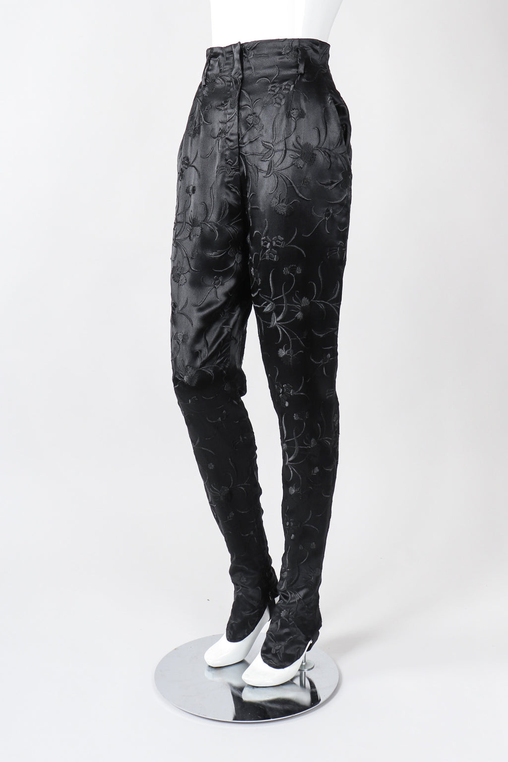 Recess Los Angeles Vintage Embroidered Silk Stirrup Spat Tuxedo Pant