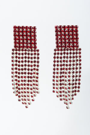 Vintage Ruby Rhinestone Fringe Earring at Recess Los Angeles