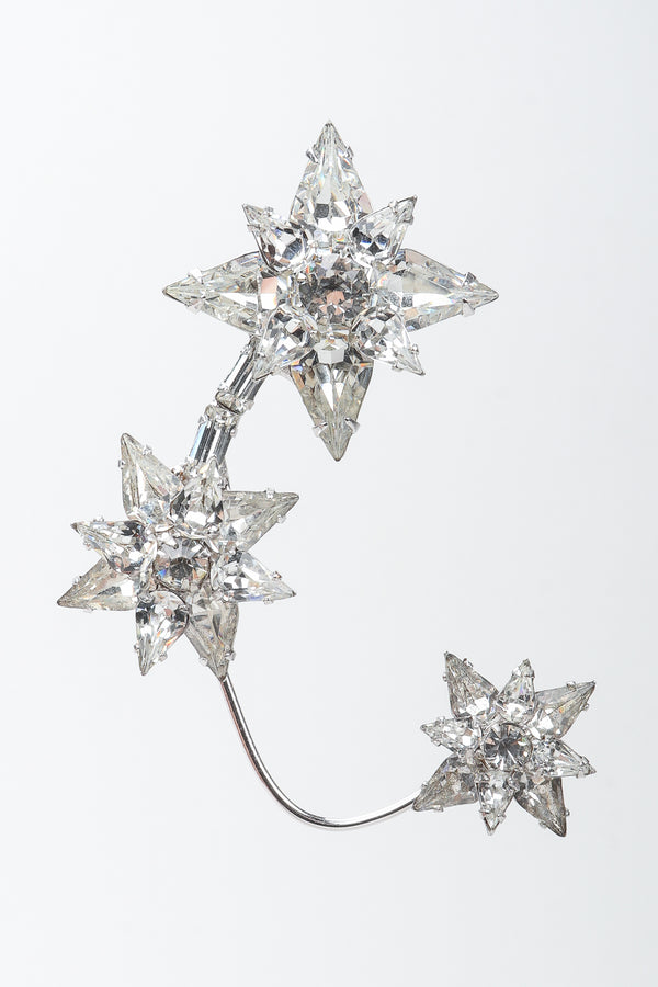 Vintage Unsigned Avant Garde Crystal Star Ear Hooks at Recess Los Angeles