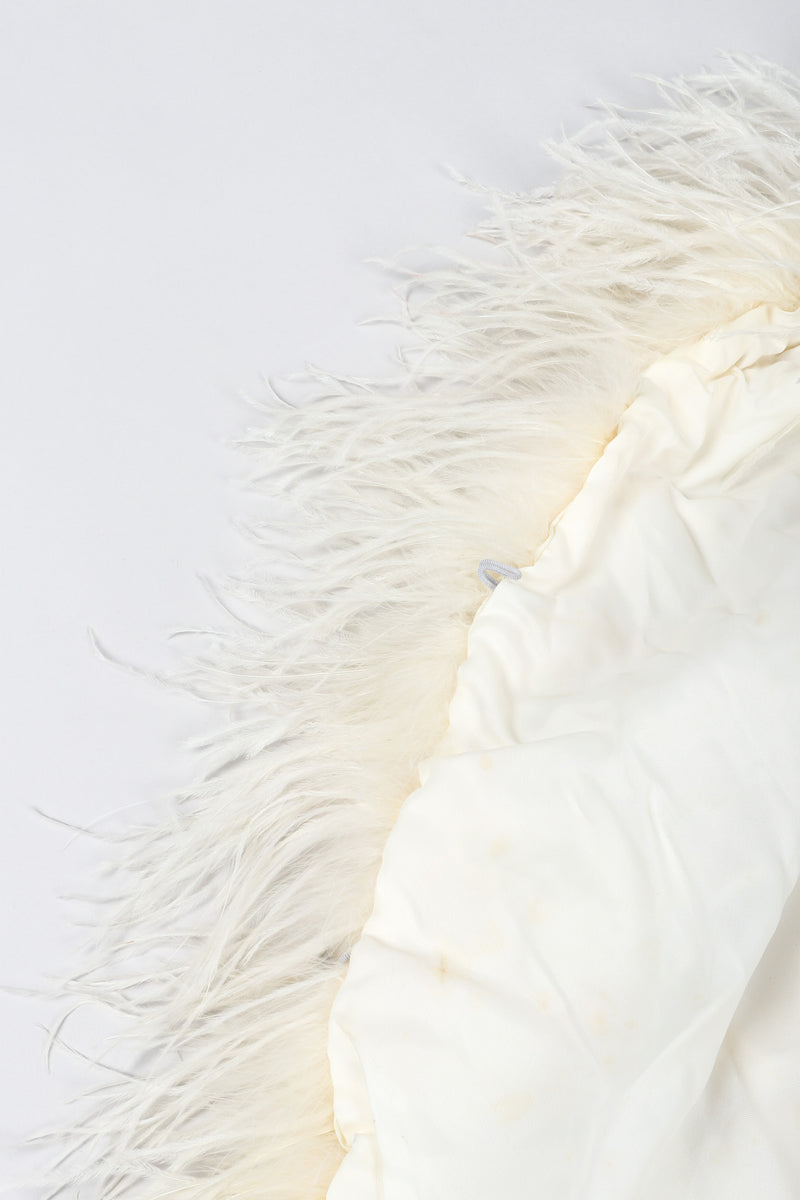 Recess Los Angeles Vintage Ostrich Trimmed Marabou Feather Cape