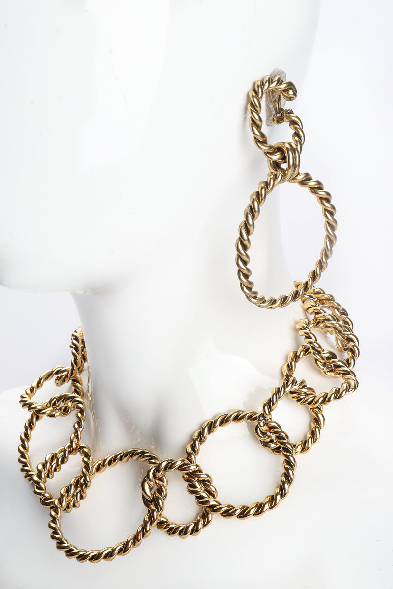 Vintage Braided Hoop Drop Earrings and Necklace at Recess Los Angeles