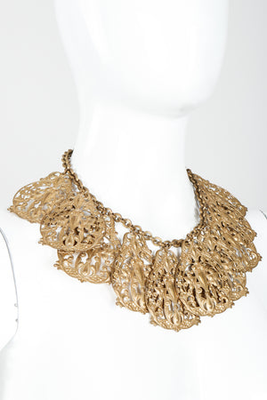 Vintage Filigree Plate Collar Necklace on Mannequin at Recess Los Angeles