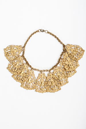 Vintage Filigree Plate Collar Necklace at Recess Los Angeles