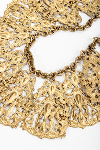 Vintage Filigree Plate Collar Necklace plate detail at Recess Los Angeles