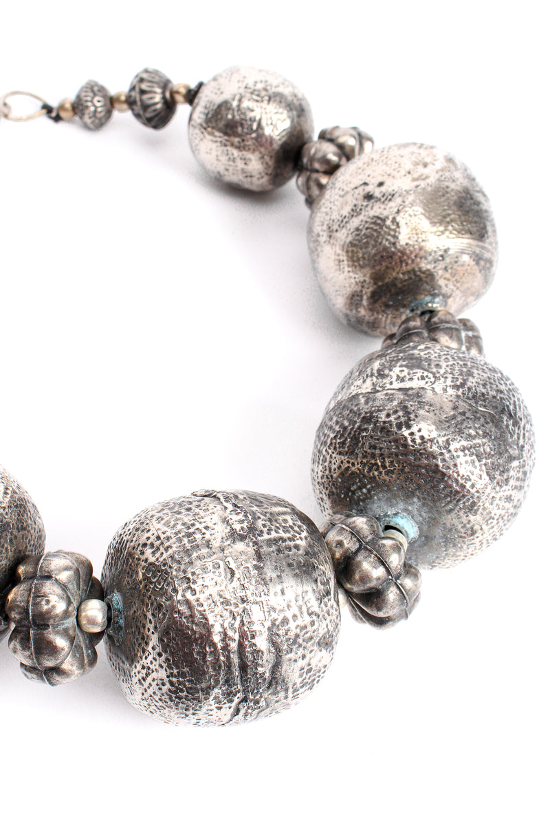 Vintage India Hammered Ball Collar Necklace detail at Recess Los Angeles