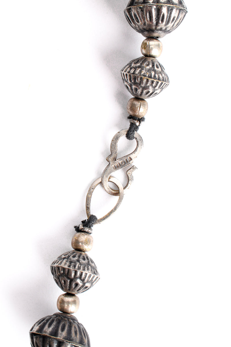 Vintage India Hammered Ball Collar Necklace hook stamp at Recess Los Angeles