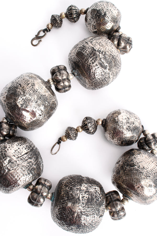 Vintage India Hammered Ball Collar Necklace at Recess Los Angeles