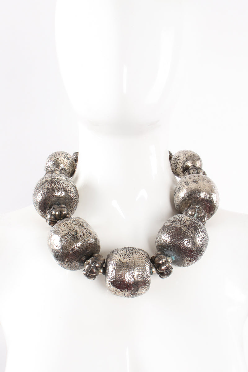 Vintage India Hammered Ball Collar Necklace on mannequin at Recess Los Angeles