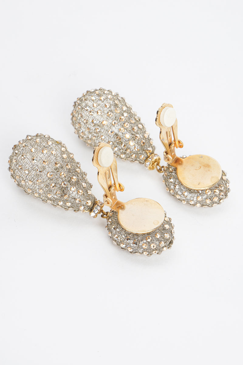 Vintage Crystal Smoke Drop Earring backs at Recess Los Angeles