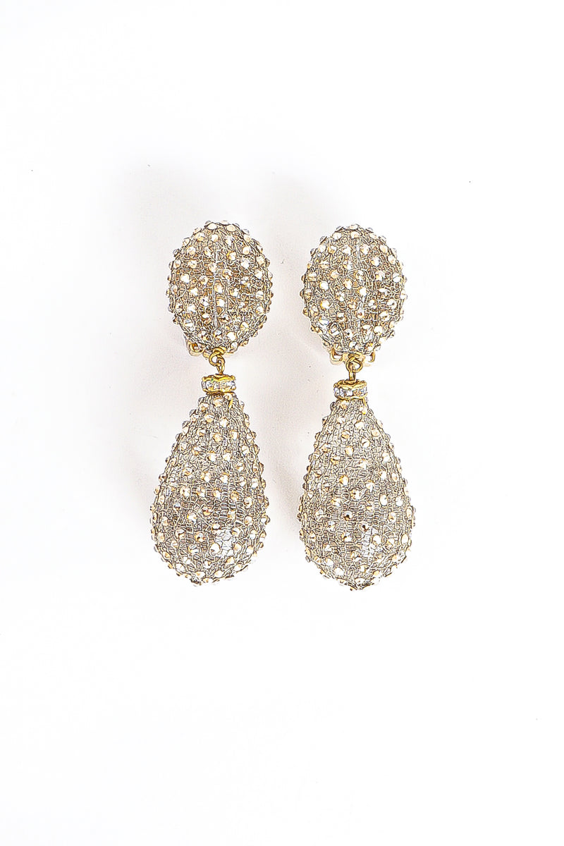 Vintage Crystal Smoke Drop Earrings at Recess Los Angeles