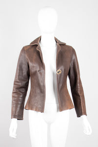 Neely Mack Design SF Shrunken Leather Aviator Blazer