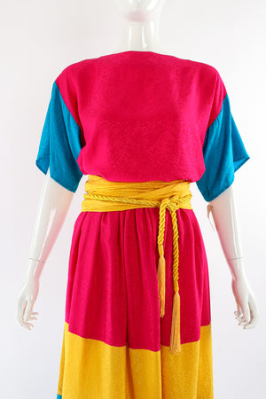 Vintage Neiman Marcus Silk Tiered Top & Skirt Set on Mannequin crop at Recess Los Angeles