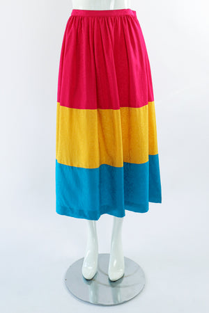 Vintage Neiman Marcus deadstock Silk Tiered Skirt Set on Mannequin Front at Recess LA