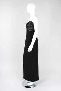 Strapless U-Neck Gown