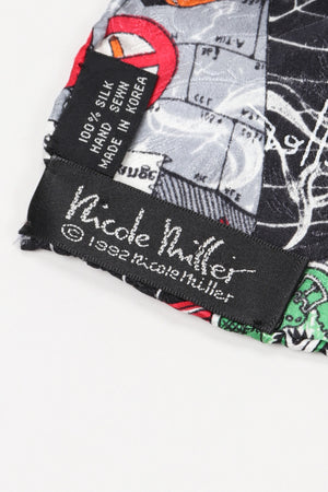 Recess Los Angeles Vintage Nicole Miller Wolf of Wall Street NYSE Stock Exchange Scarf