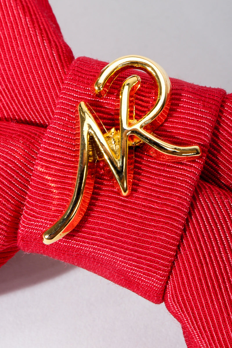 Vintage Nina Ricci Gold Logo Detail at Recess Los Angeles