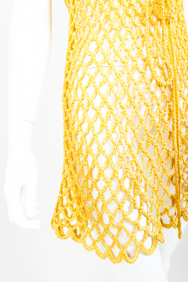 Vintage Crochet Net Dress Swim Coverup on Mannequin skirt at Recess Los Angeles