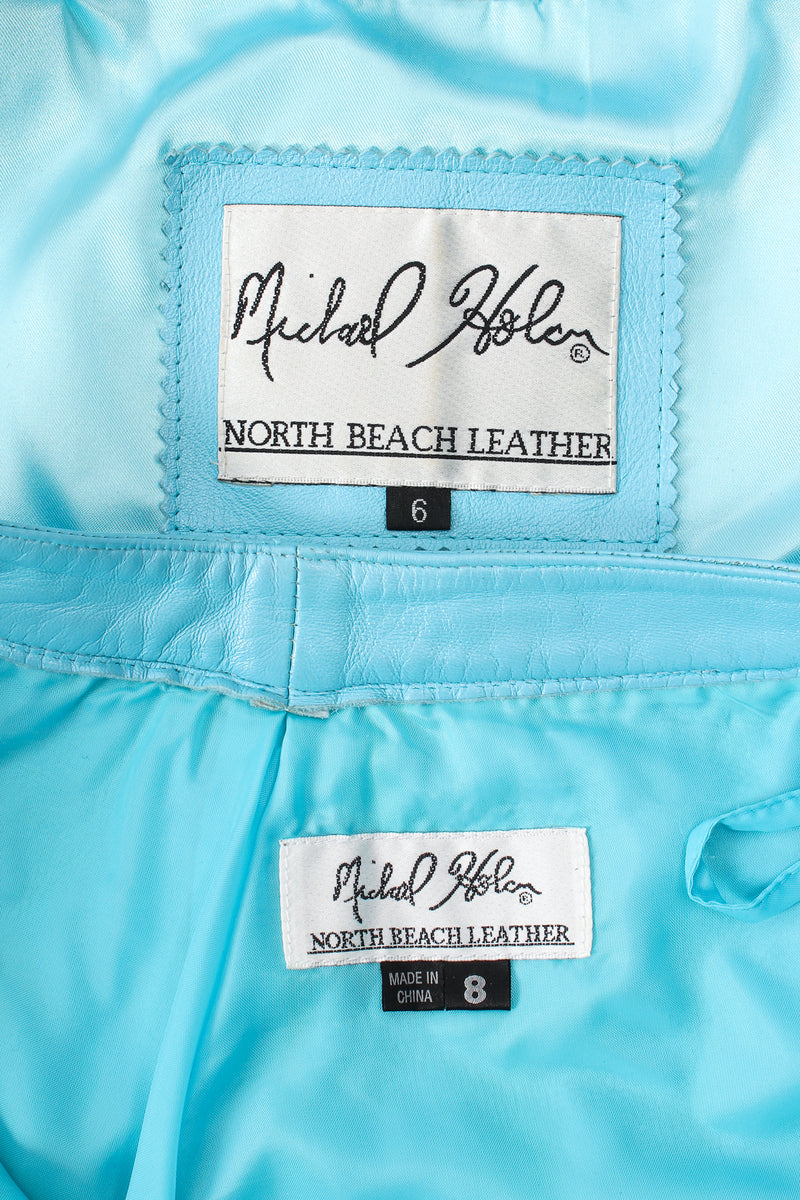 Vintage Michael Hoban North Beach Leather Fringed Jacket & Pant labels @ Recess