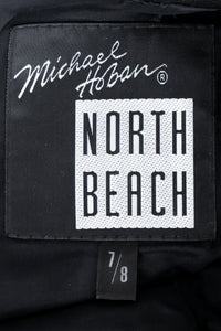 Vintage Michael Hoban for North Beach Leather Leather Bodycon Dress Label at Recess