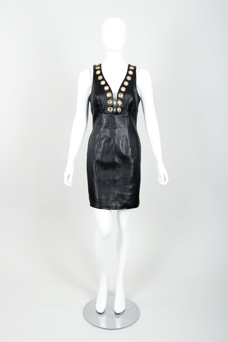 Vintage Michael Hoban for North Beach Leather Leather Bodycon Dress Front at Recess