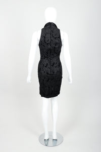 Vintage North Beach Leather Paisley Tuxedo Dress on Mannequin Back at Recess