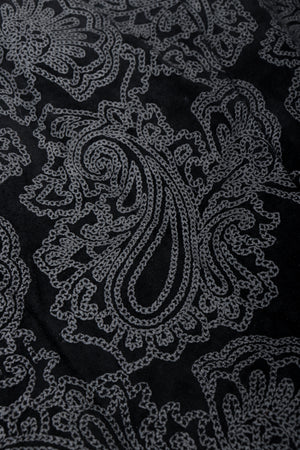 Vintage North Beach Leather Paisley Tuxedo Dress Fabric Detail at Recess