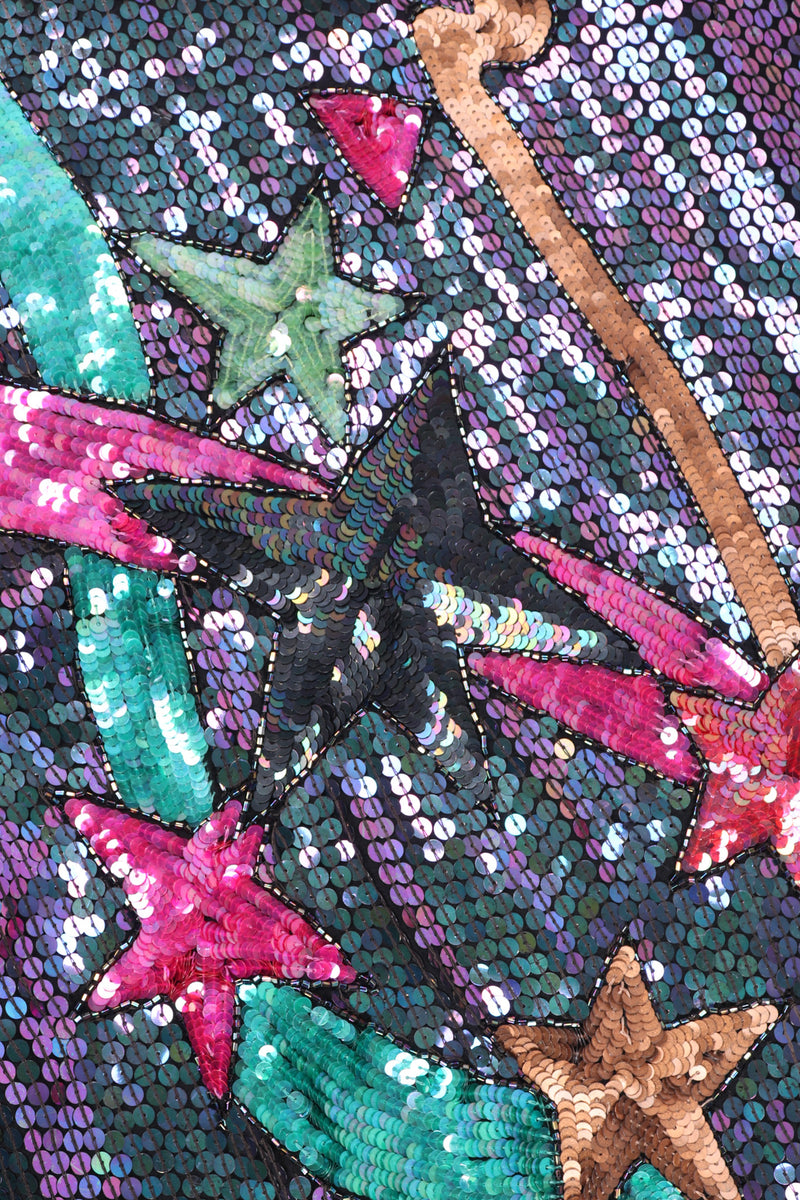 Recess Los Angeles Vintage Orlet's Shooting Stars Iridescent Sequin Shift Dress