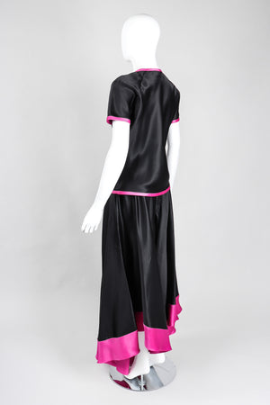 Recess Los Angeles Vintage Oscar de la Renta Silk Palazzo Pant & Top Set