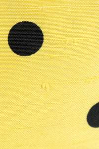 Vintage Oscar de la Renta Polka Dot Shawl Collar Dress fabric detail at Recess LA
