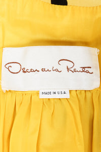 Vintage Oscar de la Renta Polka Dot Shawl Collar Dress label at Recess LA