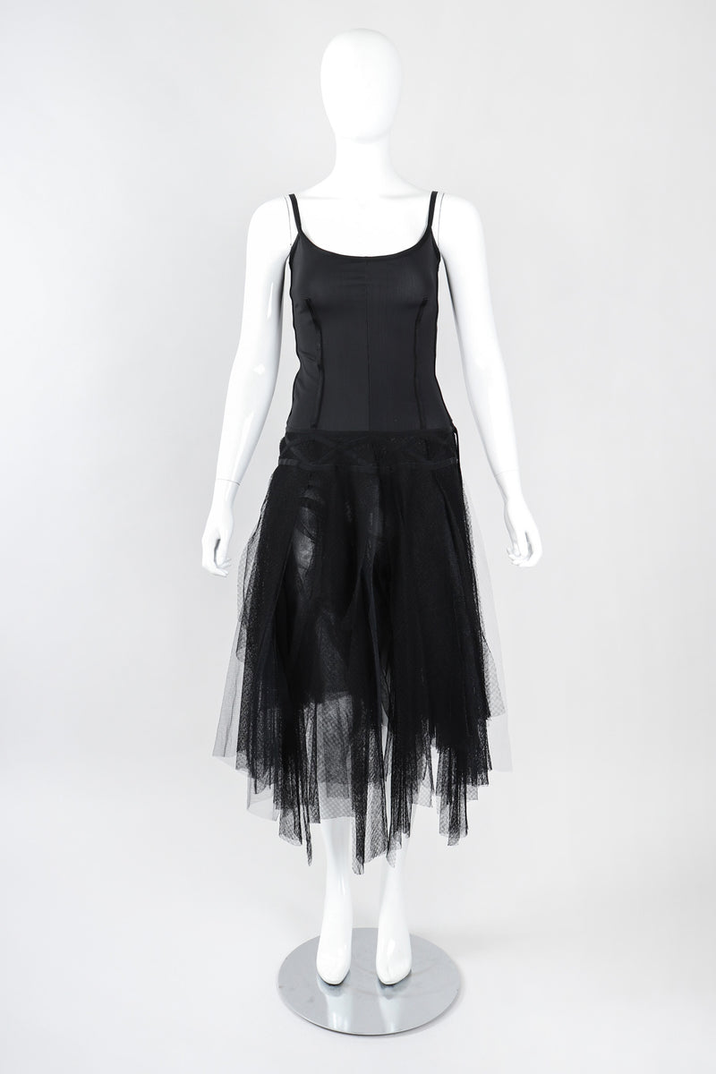 Recess Los Angeles Vintage Paco Rabanne Mesh Lace Carwash Corset Ballerina Dress