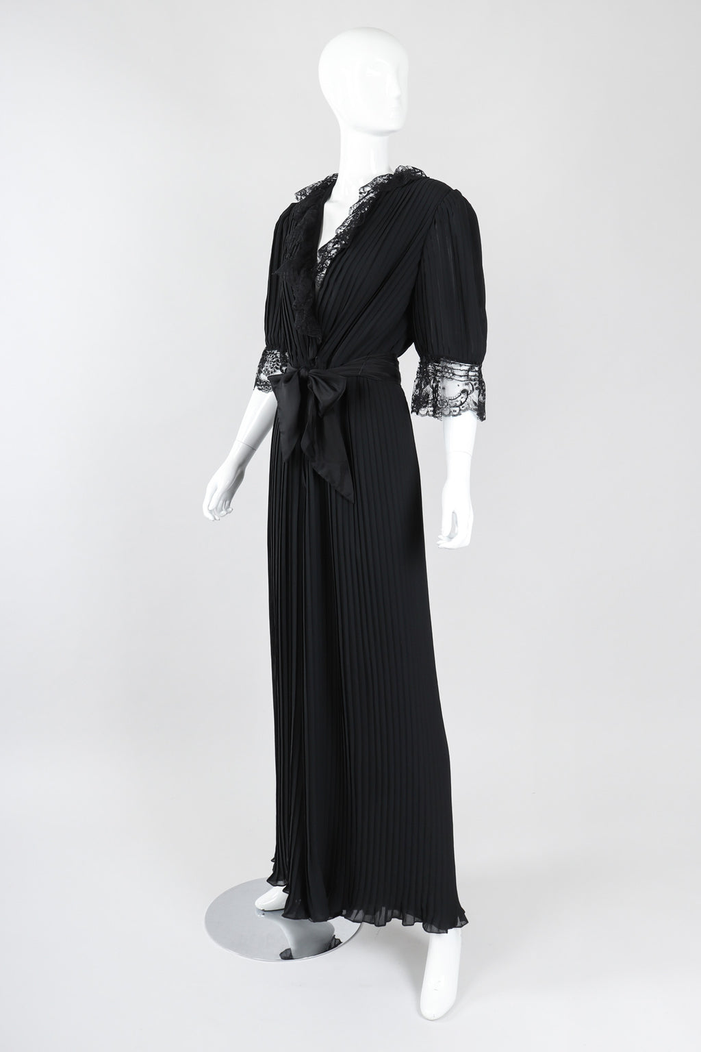 Recess Los Angeles Vintage Michael Maiello Pat Richards Pleated Chiffon Negligée Jumpsuit