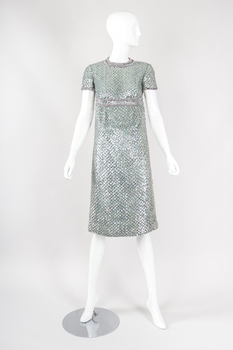 Short Sleeve Sparkle Dress
